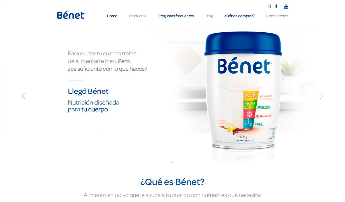 Benet sitio web
